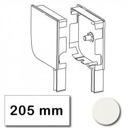 Flasque volet roulant aluminium 205 mm arrondie blanc belge