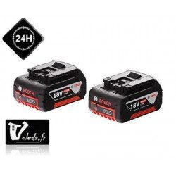 Pack 2 batteries Bosch GBA 18V 4.0 Ah