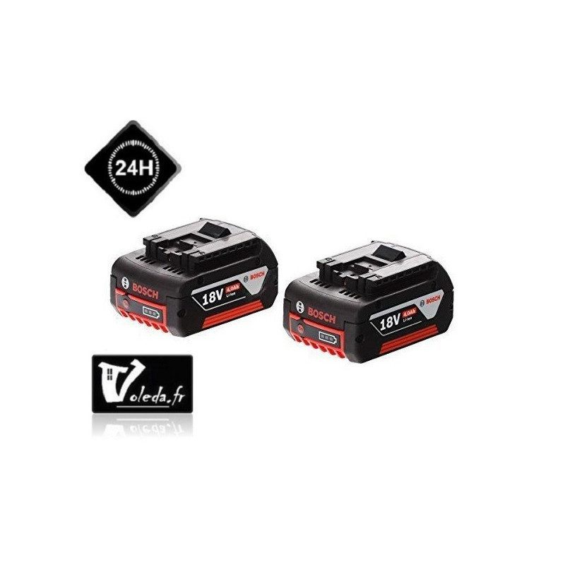 Pack 2 batteries Bosch GBA 18V 4.0 Ah