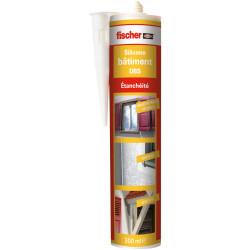 Mastic silicone pour le bâtiment DBS blanc - Fischer 53392