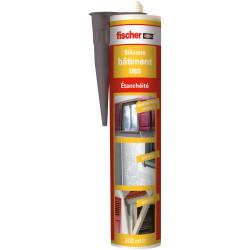 Mastic silicone pour le bâtiment DBS gris - Fischer 53393