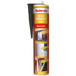 Mastic silicone pour le bâtiment DBS noir - Fischer 53395