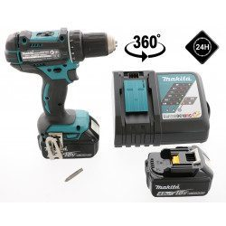 Perceuse visseuse Makita 18 V Li-Ion 4 Ah - Makita DDF482RMJ