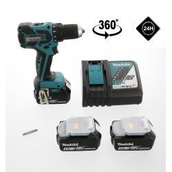 Perceuse visseuse Makita 18V Li-Ion 4 Ah - Makita DDF459RM3J