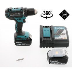Perceuse visseuse à percussion 18V - Makita DHP482RTJ