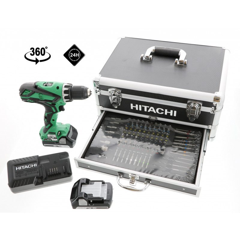 Perceuse visseuse Hitachi KC18DJLF - 18 V 2.5 Ah