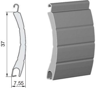 lame de volet roulant aluminium 37 mm