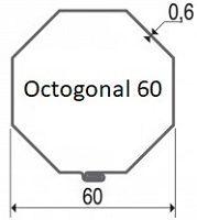 axe de volet roulant octogonal 60 x 0.6