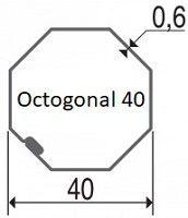 axe volet roulant octogonal 40 x 0.6