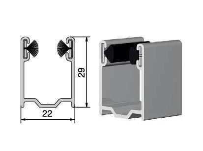 coulisse volet roulant aluminium 29 x 22 mm