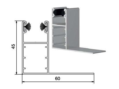 coulisse volet roulant aluminium 45 x 60
