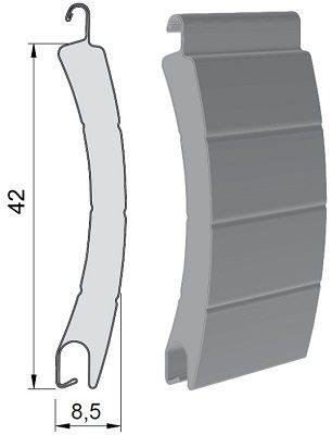 lame volet roulant aluminium 42 mm